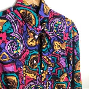 Tops - Vintage Howard Wolf Button Down Long Sleeve Blouse